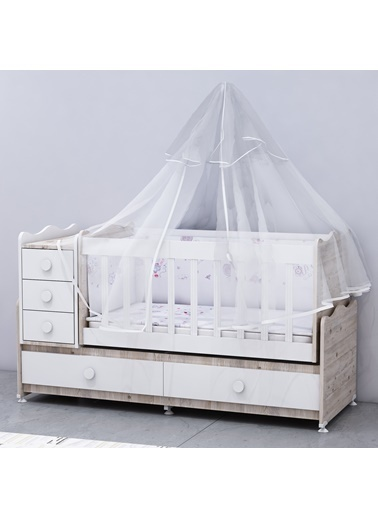 Garaj Home Garaj Home Melina Lüks Uyku Setli Beşik Kombini - Soho/ Uyku Seti Beyaz Beyaz